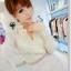 ชุดแซกสั้น Brand Qian Bai ชุดเดรสชุดแซกงานพรีเมี่ยม ตัวเสื้อผ้าชีฟองเนื้อดีสีครีม แขนยาว กระโปรงผ้าถักโครเชต์อย่างดี สวยมากๆครับ (พร้อมส่ง) thumbnail 3