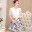 แฟชั่นเกาหลี set 2 ชิ้น เสื้อและกระโปรง สวยมากครับใส่ทำงานได้ thumbnail 3