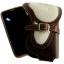 กระเป๋าใส่โทรศัพท์ หนังวัวแท้ ประดับด้วย ขนวัว และเข็มขัดเพื่อยึดตัวกระเป๋า thumbnail 2