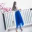 ชุดเดรสยาว ตัวเสื้อผ้าไหม silk สีขาว ปักด้วยด้านสีน้ำเงินตามแบบ thumbnail 7