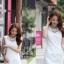ชุดเดรสเกาหลี ชุดเดรสสั้น ผ้าถักลายวงกลม แขนกุด ทรงตรง เอวเข้ารูป มีซับใน สวยมากๆ thumbnail 4