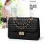 Pre-order กระเป๋าผู้หญิงสะพายข้างสายโซ่ ทรงกล่องเย็บลายตารางสไตล์ Chanel แฟชั่นเกาหลี รหัส Yi-419สีดำ thumbnail 1