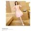 ชุดเดรสสวยๆ สีชมพู เดรสผ้าลูกไม้สีชมพู แขนยาว เนื้อดีมากๆ thumbnail 7