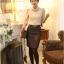 เสื้อทำงาน SL style เสื้อผ้าลูกไม้ สีครีมเนื้อนุ่ม มีซับใน คอเต่า แขนยาว พร้อมสร้อยคอเหมือนแบบ (พร้อมส่ง) thumbnail 6