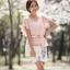 เสื้อผ้าแฟชั่นเกาหลี Set 2 ชิ้น เสื้อผ้าชีฟองสีชมพู แขนระบายปักมุก พร้อมเข็มขัด สวยมากๆ thumbnail 4