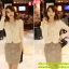 เสื้อเกาหลี style goodyou เสื้อคลุมผ้าเนื้อผสมสี beige แขนยาวแต่งผ้าซีฟองที่ขอบวนดอกกุหลาบ สวยเหมือนแบบ100% ครับ พร้อมส่ง thumbnail 9