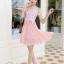 ชุดเดรสสวยๆ ตัวเสื้อผ้าลูกไม้ ปักสีชมพู พิมพ์ลายดอกกุหลาบ thumbnail 4
