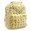 กระเป๋าเป้สไตล์ MCM ไซร์ 11.5 นิ้วแต่งอะไหล่ตอกหมุดและซิปเหล็กสีทองอยู่ทรงสวย thumbnail 1