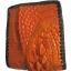 กระเป๋าสตางค์ 2 พับ หนังจระเข้เเท้ หนังต่อเย็บมือ สีส้ม thumbnail 4