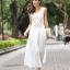 ชุดราตรียาว Brand Mei Na ชุดเดรสยาวแขนกุด ตัวเสื้อผ้าโปร่งสีน้ำตาล แต่งด้วยดิ้นสีขาว ตัวกระโปรงผ้าชีฟองสีขาว สวยมากๆครับ (พร้อมส่ง) thumbnail 6
