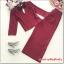 เสื้อผ้าแฟชั่น set 2 ชิ้น เสื้อ และกางเกง สีแดงเลือดหมู thumbnail 14
