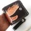 กระเป๋าสตางค์หนังแท้ ทำจากหนังวัว ด้านขอบกระเป๋าเป็นหนังถักตลอดขอบกระเป๋าพร้อมโซ้ thumbnail 1