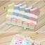 S349 **พร้อมส่ง** (ปลีก+ส่ง) ถุงเท้าแฟชั่นเกาหลี ข้อสั้น คละ 5 สี มี 12 คู่/แพ็ค เนื้อดี งานนำเข้า(Made in China) thumbnail 4