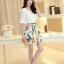 ชุดเดรสสวยๆ ตัวเสื้อผ้าชีฟอง สีขาว แขนยาวสามส่วน thumbnail 5