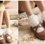 ถุงเท้าขอบระบายลูกไม้สีขาว thumbnail 2