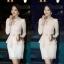 เสื้อทำงาน SL Style เสื้อแขนยาว ผ้าชีฟอง สีชมพูโอรส คอเสื้อประดับด้วยคริสตรัลใส และมุกสีขาว พร้อมเข็มขัด (พร้อมส่ง) thumbnail 3