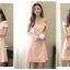 ชุดเดรสสวยๆ ผ้าคอตตอนผสม สีชมพูโอรส เปิดไหล่ เข้ารูปช่วงเอว thumbnail 7