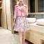 ชุดเดรสแฟชั่น set เสื้อสูทสีชมพูพาสเทล และเดรสแขนกุด สวยหวานครับ thumbnail 3