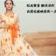 ชุดเดรส Brand Luomeidisha ชุดเดรสยาว ผ้า Organsa (ผ้าไหมแก้วเนื้อบาง) ลายดอกทานตะวัน สวยมากๆครับ (พร้อมส่ง) thumbnail 2