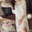 แฟชั่นเกาหลีสวยๆ set เสื้อ และกระโปรงผ้าลูกไม้ถักโครเชต์ สีขาว สวยมากๆ thumbnail 5