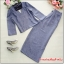 เสื้อผ้าแฟชั่น set 2 ชิ้น เสื้อ และกางเกง สีเทา thumbnail 10