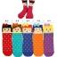 A006 **พร้อมส่ง**(ปลีก+ส่ง) ถุงเท้าแฟชั่นเกาหลี โบว์ ข้อสูงมี 5 แบบ เนื้อดี งานนำเข้า( Made in Korea) thumbnail 1