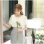 ชุดเดรสน่ารัก ตัวเสื้อผ้าชีฟอง สีขาว แขนเสื้อระบายทรงปีกค้างคาว กระโปรงผ้าคอตตอนผสม thumbnail 2
