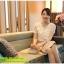 เสื้อแฟชั่น Hongkong ผ้าลูกไม้ สีขาว แขนสั้น แต่งระบายลูกไม้ที่หน้าอก แต่งมุกคอวี มีซับในสวยเหมือนแบบครับ สินค้าเกรด A พร้อมส่ง thumbnail 9