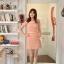 ชุดเดรส ชุดแซกเกาหลี Brand FLENKIY ชุดเดรสลูกไม้ ตัวชุดด้านหน้าผ้าถักสีชมพูโอรส คอเสื้อและเอวคาดด้วย ผ้าชีฟองสีชมพูโอรส สวยมากๆครับ (พร้อมส่ง) thumbnail 6