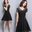 ชุดเดรสสีดำ ชุดสีดำ เดรสผ้าชีฟองเนื้อดีสีดำ คอเสื้อสวยมาก thumbnail 3