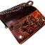 กระเป๋าสตางค์ยาวสีน้ำตาลลายเสือ แบบ 2 พับ พร้อมโซ่ thumbnail 4