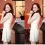 ชุดเดรสสั้น Brand Barbara ชุดเดรสลูกไม้ เสื้อผ้านิตติ้งสีขาว แขนยาว กระดุมผ่าหน้า ลายผีเสื้อ สวยมากๆครับ (พร้อมส่ง) thumbnail 3