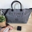 Victorias Secret Limited Edition Weekender Tote Bag Silver Glitter XL Zipper (รหัสV-01) thumbnail 1