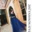 ชุดราตรียาว ออกงาน ตัวเสื้อผ้าลูกไม้สีน้ำเงิน แขนยาวสามส่วน ด้านนอกของเสื้อผ้าลูกไม้ thumbnail 6