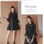 ชุดเดรสสีดำ ตัวเสื้อผ้าลูกไม้เนื้อนิ่มมากๆ แขนยาวสี่ส่วน thumbnail 3