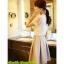เสื้อแฟชั่น Hongkong ผ้าลูกไม้ สีขาว แขนสั้น แต่งระบายลูกไม้ที่หน้าอก แต่งมุกคอวี มีซับในสวยเหมือนแบบครับ สินค้าเกรด A พร้อมส่ง thumbnail 5