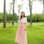 แมกซี่เดรสยาว ผ้าชีฟองเนื้อดี สีชมพูโอรส thumbnail 5