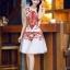 ชุดเดรสเกาหลี Brand Yi mei ชุดเดรสผ้าไหม ลายผ้าย่นเล็กๆ สีขาว แขนบ่าล้ำ ตัวชุดด้านหน้าเป็นงานปักลายดอกไม้สีส้ม สวยมากๆครับ (พร้อมส่ง) thumbnail 2