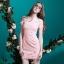 ชุดเดรสสวยๆ ผ้าคอตตอนผสม spandex เนื้อนุ่มมาก สีชมพู thumbnail 7