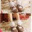 ถุงเท้าขอบระบายลูกไม้สีขาว thumbnail 4