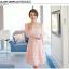 ชุดเดรสสวยๆ ผ้าไหมแก้ว organza ปักด้วยด้ายลายดอกไม้ สีชมพู สวยมากๆ thumbnail 1