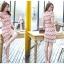 ชุดเดรสสวยๆ ผ้าถักโครเชต์ สีชมพู สวยหวาน thumbnail 4