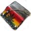 กระเป๋าสตางค์ยาว หนังแท้ รูป BOB MARLEY4 ใบกัญชา แบบ 2 พับ พร้อมโซ่ thumbnail 5