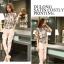 แฟชั่นเกาหลี set เสื้อ และกางเกงขายาว น่ารักมากๆ thumbnail 3
