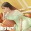 ชุดเดรสเจ้าหญิง ผ้าไหมแก้ว สีเขียว ปักลายดอกไม้สีเขียว thumbnail 7
