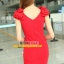 Pre-Order ชุดราตรีสั้น ชุดเดรสสั้น Brand Fu daiyi คอวี สีแดง-สีดำ แขนกุด ผ้าโพลีเอสเตอร์ ยืดหยุ่นดี ไม่ยับง่ายไม่ต้องรีด สวยมากๆ สินค้าเกรด A thumbnail 4