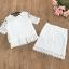 เสื้อผ้าทำงาน set เสื้อและกระโปรงผ้าลูกไม้ถักสีขาว ใส่ทำงานสวยมากๆ thumbnail 6