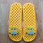 K011-DYL **พร้อมส่ง** (ปลีก+ส่ง) รองเท้านวดสปา เพื่อสุขภาพ ปุ่มเล็ก ลายมินเนี่ยน สีเหลือง thumbnail 1