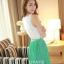 ชุดเดรสซีฟอง ชุดเดรสสั้นแฟชั่นเกาหลี แนวหวาน สีเขียว คอย้วย แขนกุด เอวยางยืด กระโปรงอัดพลีท แถมผ้าผูกเอว ใส่เที่ยวน่ารัก สวยมากๆครับ (พร้อมส่ง) thumbnail 3