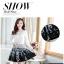 ชุดเดรสเกาหลีออกงาน ตัวเสื้อผ้าถักสีขาว แขนยาว กระโปรงผ้าชีฟองสีดำ พร้อมสร้อยคอ thumbnail 6